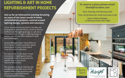 Event – Lighting & Art in Home Refurbishment Projects – 27th February 2020