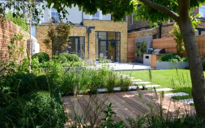How to create different zones in the garden