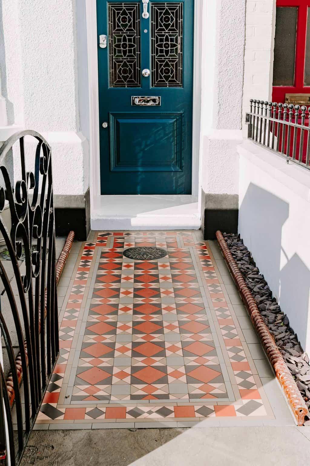 clapham SW4, front path, victorian tiles,